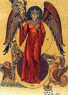 La personnification de l'Eglise telle que la représente l'Hortus Deliciarum