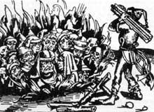 Victimes de la peste par vindicte populaire, les Juifs sont br�l�s � Strasbourg le 14 f�vrier 1349