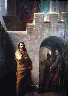 Werner d'Achalm, fervent partisan de l'empereur HenriII, l'accompagna à Canossa