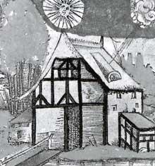 Maison à colombage du XVè. Crescentiis, «Von dem Nutz der Dinge». Strasbourg, 1518. (La maison alsacienne)