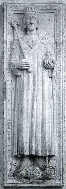 Le gisant de Rodolphe de Habsbourg (1218-1291), roi des Romains (1273-1291). Cath�drale se Spire