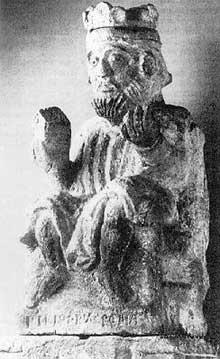 Philippe de Souabe. Statue de la Steinerne Brücke, Ratisbonne, vers 1207