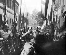 L'empereur GuillaumeII à Strasbourg en 1899