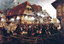6 Août 1870: la charge des «Cuirassiers» de Michel à Morsbronn par Detaille