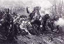 6 Août 1870: la charge des «Cuirassiers» à Elsasshausen, par Robiquet