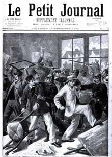 Révolte des conscrits alsaciens en 1896. Page de titre du Petit Journal