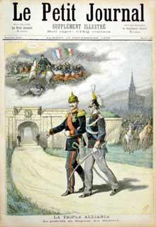 1893: l'esprit de revanche, symbolisé par la reconquête de l'Alsace, est de plus en plus présent en France