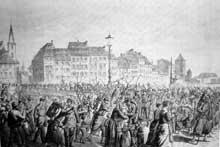 Août 1870: après la défaite de Froeschwiller, le gros des troupes françaises évacuent Strasbourg