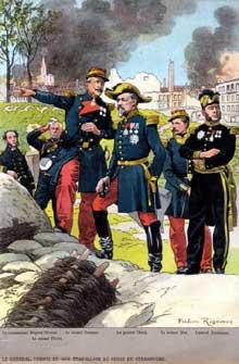 Le général Uhrich durant le siège de Strasbourg. Dessin de Frédéric Regamey