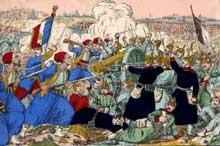 La bataille de Wissembourg d'après une image d'Epinal