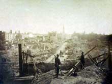 Strasbourg après le bombardement. Otto von Bismarck Stiftung, Friedrichsruh