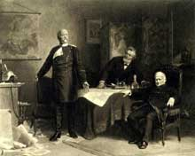 La paix imposée. Tableau de Carl Wagner. Otto-von-Bismarck-Stiftung, Friedrichsruh