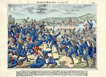 La bataille de Wissembourg vu du côté allemand. Paris, Musée National des Arts et des Traditions Populaires