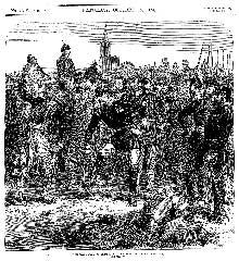 La capitulation de Strasbourg: reddition et départ des prisonniers Français par l'Illustrated London News du 15 Octobre 1870