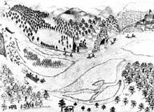 Naufrage sur le Rhin au XVIIIè