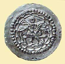 Phalère d'argent d'un harnachement trouvé à Hüfingen en Forêt Noire. Art alaman, vers 600