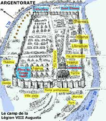 Schéma du camp de la Légion VIII «Augusta» d'Argentorate