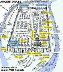 Sch�ma du camp de la L�gion VIII ��Augusta�� d�Argentorate