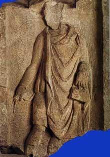 Argentorate�: st�le dite de l��colier, trouv�e au 2, rue du D�me. 98cm. Mus�e arch�ologique de Strasbourg
