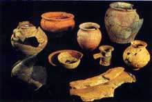 Argentorate: céramiques du Ier siècle trouvées place de l'homme de fer lors des fouilles de la construction de la ligne du Tram