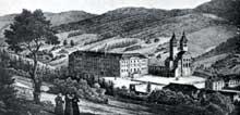 Murbach en 1764, peu avant sa démolition