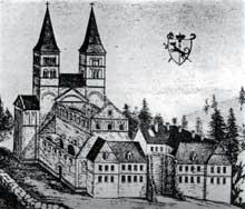 Murbach en 1745, par Silbermann