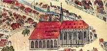 Strasbourg: le couvent des Dominicains ou «Prediger». Gravure du XVIIè