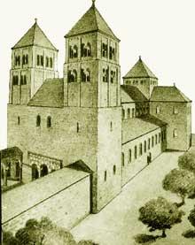 Strasbourg: reconstitution de l'édifice ottonien