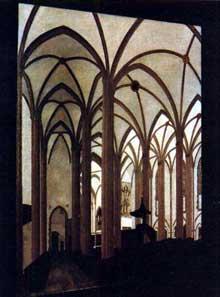 Strasbourg: intérieur de Saint Thomas, par Cl. Bech. Collection particulière
