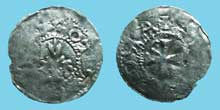 Monnaie de l'évêque Widerold, évêque de Strasbourg (991-999) sous le règne d'OttonIII (983-1002)
