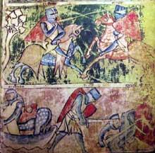 Page du Manuscrit Germain 51 du Tristant de la Staatsbibliothek de Munich