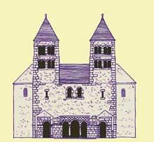 Strasbourg: la façade de la basilique de Wernher selon Kautsch