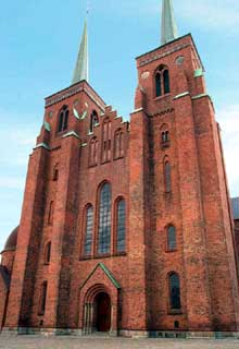 Roskilde : la cathédrale, le massif occidental