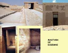 Le Mastaba de Kagemni, 2382 avant J.-C. (VIè dynastie) est situé non loin de celui de Mérérouka.. (Site Egypte antique)