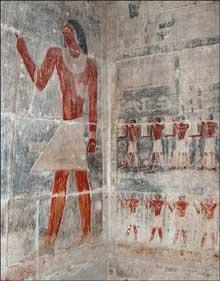 Mastaba de Kagemni: décors de la chambre funéraire. (Site Egypte antique)