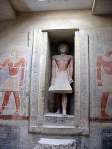 Saqqara. Mastaba de Mérérouka. Intérieur. (Site Egypte antique)