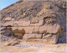 Saqquara sud: la pyramide de Djedkarè-Isési: le pavement.  (Site Egypte antique)