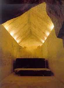 La pyramide d'Ounas à Saqqara. Chambre funéraire. (Site Egypte antique)