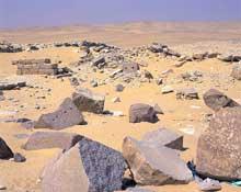 Abou Gourob: le temple solaire d'Ouserkaf. (Site Egypte antique)
