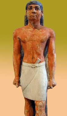 Le boulanger en chef Nefer, Saqqara. Vè dynastie. Musée du Caire. (Histoire de l'Egypte ancienne)