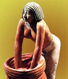 Brasseuse de bière. Guizeh, Vè. Musée du Caire. (Histoire de l'Egypte ancienne)