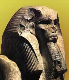 Le pharaon Djoser (2630-2611), IIIè dynastie. Statue du serdab de la pyramide de Saqqara. (Histoire de l'Egypte ancienne)
