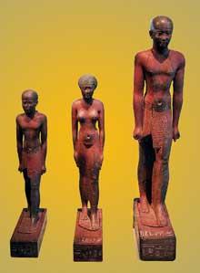 Le groupe de PsammétiqueI et de sa famille. Musée de Berlin. (Histoire de l'Egypte ancienne)