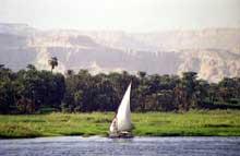 Le Nil en Haute Egypte. (Site Egypte antique)