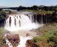 Les chutes du Nil Bleu au Soudan. (Site Egypte antique)