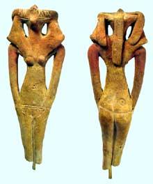 Statuettes Hyksos. (Histoire de l'Egypte ancienne)