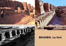 Bouhen. Le fort construite par Sésostris II. XIIè dynastie. (Site Egypte antique)