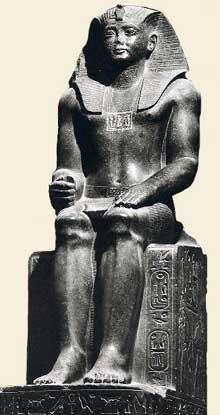 Statue de Sésostris II provenant de Tanis. Granite, 2m65. Musée du Caire. (Site Egypte antique)