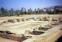 Akhetaton – Telle el-Amarna: vestiges du palais du nord. (Site Egypte antique)