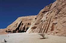 Abou Simbel: vue générale du site. (Site Egypte antique)